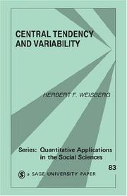 Cover of: Central tendency and variability