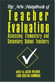 Cover of: The New Handbook of Teacher Evaluation |