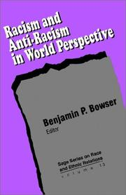 Cover of: Racism and anti-racism in world perspective |