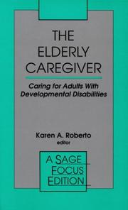 Cover of: The Elderly Caregiver