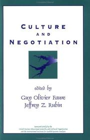 Cover of: Culture and Negotiation |