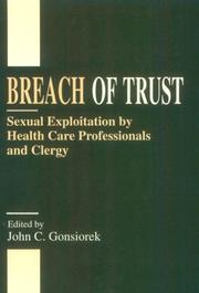 Cover of: Breach of Trust | John C. Gonsiorek
