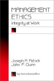 Cover of: Management ethics