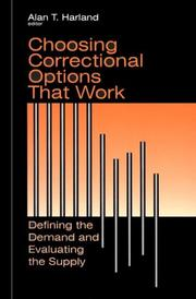 Cover of: Choosing Correctional Options That Work