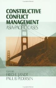 Cover of: Constructive conflict management