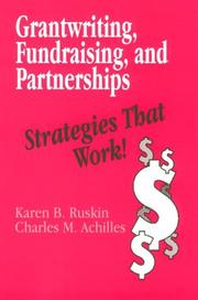 Cover of: Grantwriting, fundraising, and partnerships