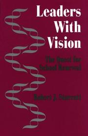 Cover of: Leaders with vision