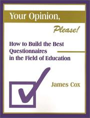 Cover of: Your opinion, please!