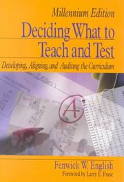 Cover of: Deciding What to Teach and Test