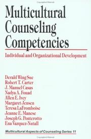 Cover of: Multicultural Counseling Competencies: Individual and Organizational Development (Multicultural Aspects of Counseling And Psychotherapy)