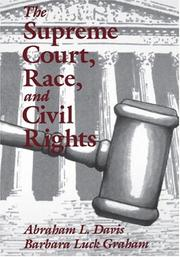 Cover of: The Supreme Court, race, and civil rights