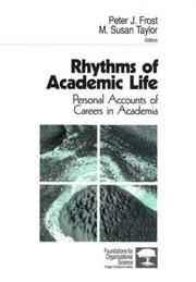 Cover of: Rhythms of Academic Life |