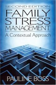 Cover of: Family stress management | Pauline Boss