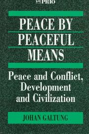 Cover of: Peace by peaceful means