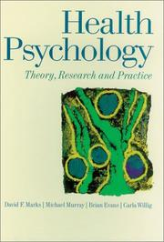 Cover of: Health Psychology | David F. Marks
