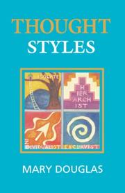 Cover of: Thought styles