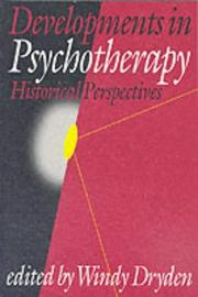 Cover of: Developments in Psychotherapy | Windy Dryden