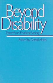Cover of: Beyond Disability