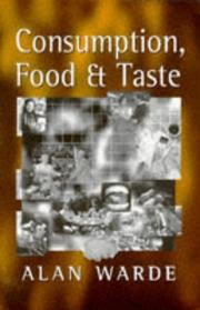 Cover of: Consumption, food, and taste