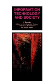 Cover of: Information technology and society | edited by Nick Heap ... [et al.].