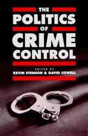 Cover of: The Politics of crime control |