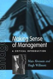Cover of: Making sense of management