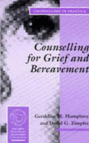 Cover of: Counselling for grief and bereavement