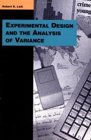 Cover of: Experimental design and the analysis of variance