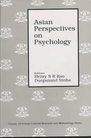 Cover of: Asian perspectives on psychology |