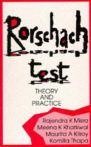 Cover of: Rorschach Test | Rajendra K Misra