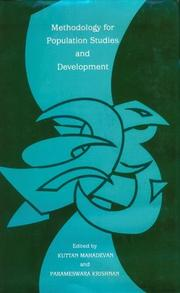 Cover of: Methodology for population studies and development