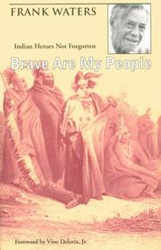 Cover of: Brave are my people | Waters, Frank