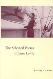 Cover of: The selected poems of Janet Lewis