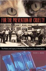 Cover of: For the Prevention of Cruelty
