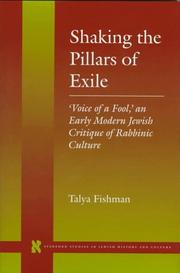 Shaking the pillars of exile by Talya Fishman
