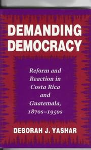 Cover of: Demanding democracy