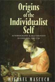 Cover of: Origins of the individualist self