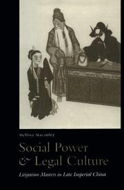 Cover of: Social power and legal culture