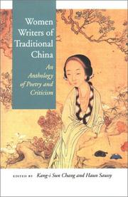 Cover of: Women Writers of Traditional China |