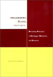 Cover of: Philosophy, Revision, Critique