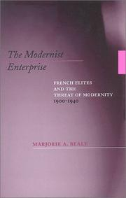 Cover of: The Modernist Enterprise