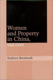 Cover of: Women and property in China
