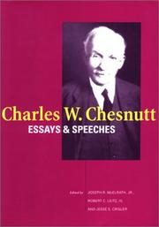 Cover of: Charles W. Chesnutt