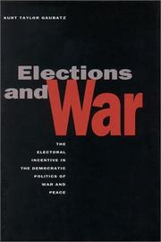 Cover of: Elections and War