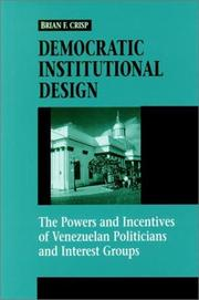 Cover of: Democratic Institutional Design