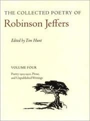 Cover of: The Collected Poetry of Robinson Jeffers: Volume Four | Robinson Jeffers