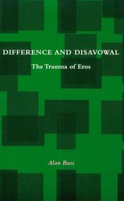 Cover of: Difference and Disavowal