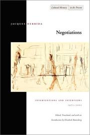 Cover of: Negotiations: interventions and interviews, 1971-2001