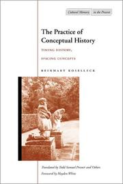 Cover of: The practice of conceptual history