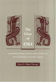 Cover of: The Class of 1761